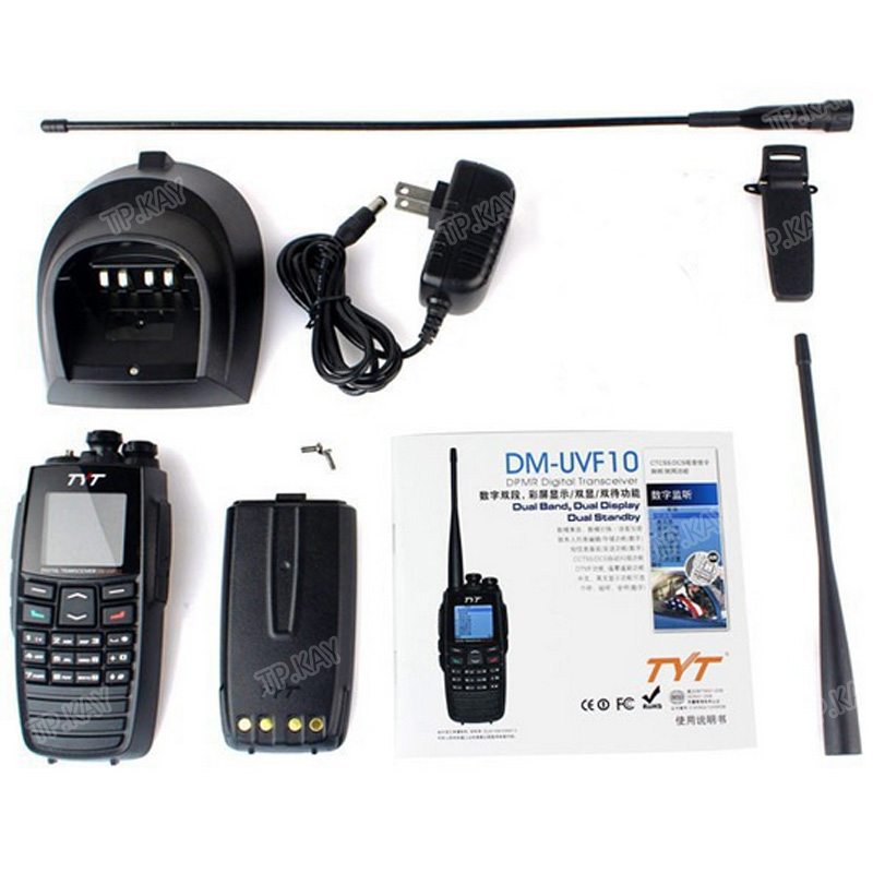 100 Original TYT DM UVF10 Dual Band VHF UHF DPMR Walkie Talkie with Built in GPS Function in Walkie Talkie from Cellphones Telecommunications