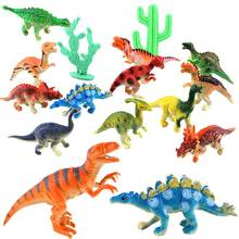 12pcs Mini Dinosaur Toy Plastic Jurassic Play Model Action & Figures Best Gift for Boys  NSV775