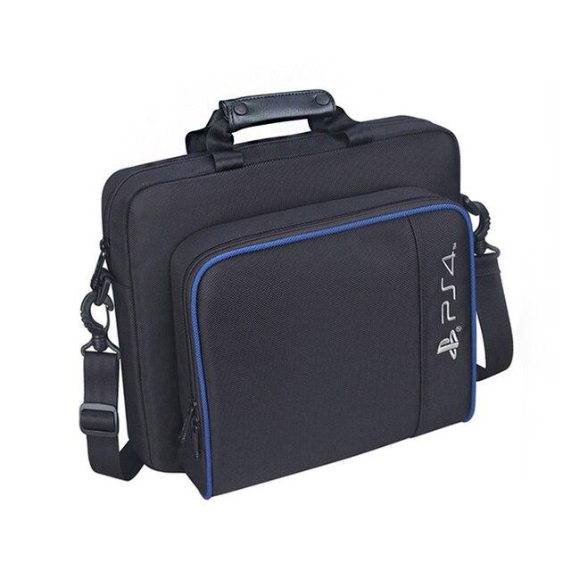 Per PS4 / PS4 Pro Sottile Gioco Sytem Sacchetto di formato Originale Per PlayStation 4 Console Proteggere Spalla Carry Bag Borsa caso Della tela di canapa 1