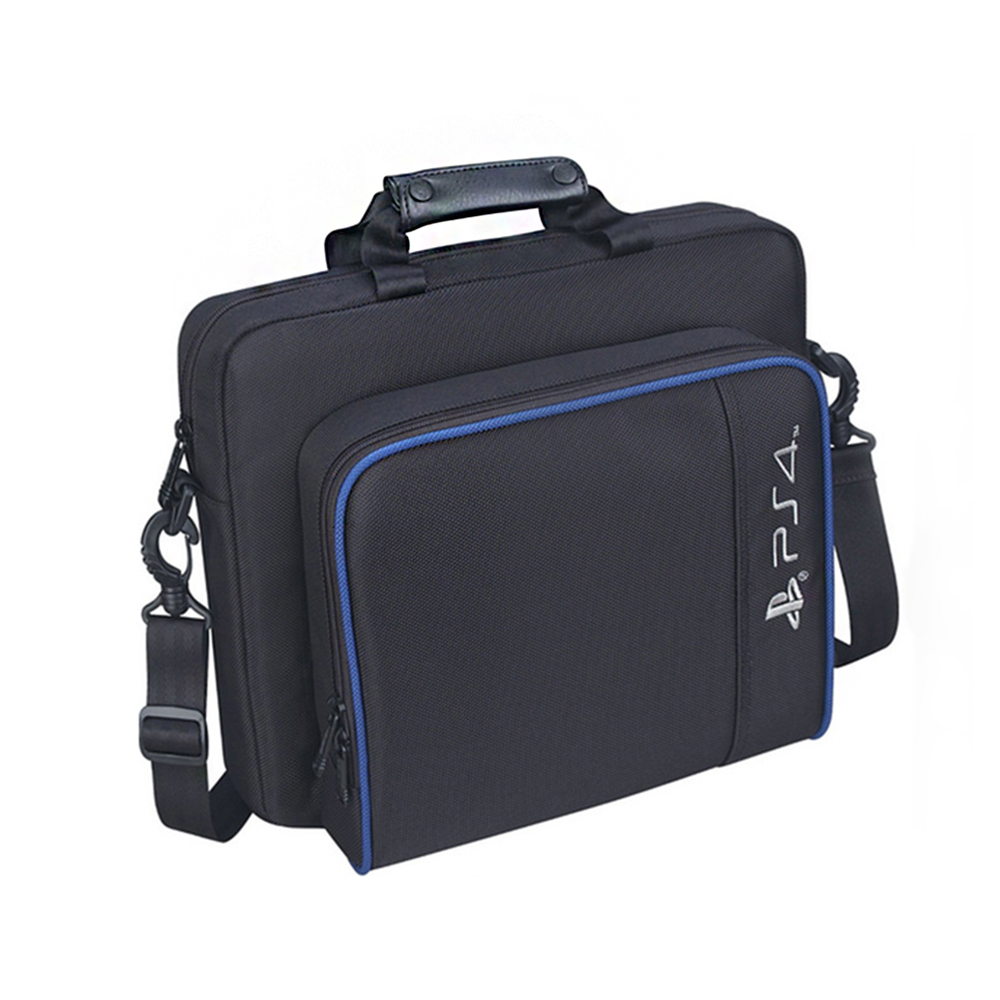 For <font><b>PS4</b></font> / <font><b>PS4</b></font> Pro Slim Game Sytem Bag Original size For PlayStation 4 <font><b>Console</b></font> Protect Shoulder Carry Bag Handbag Canvas <font><b>Case</b></font> image