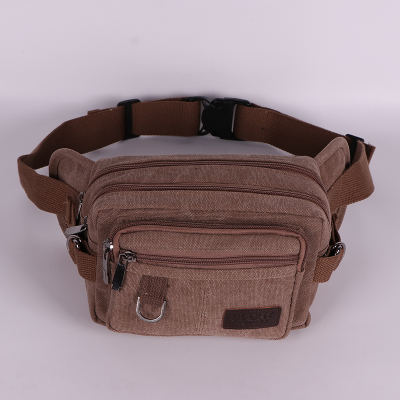 New 2018 Men Small Waist Packs!Hot All-match Male Leisure Riding Chest Pockets Multiple Pocket Canvas Mobile&change Carrier