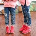 2-7 Anos Crianças Calças Meninas Calça Jeans Outono Bebê Menina Rato Dos Desenhos Animados Calças Jeans Da Moda Crianças Roupas