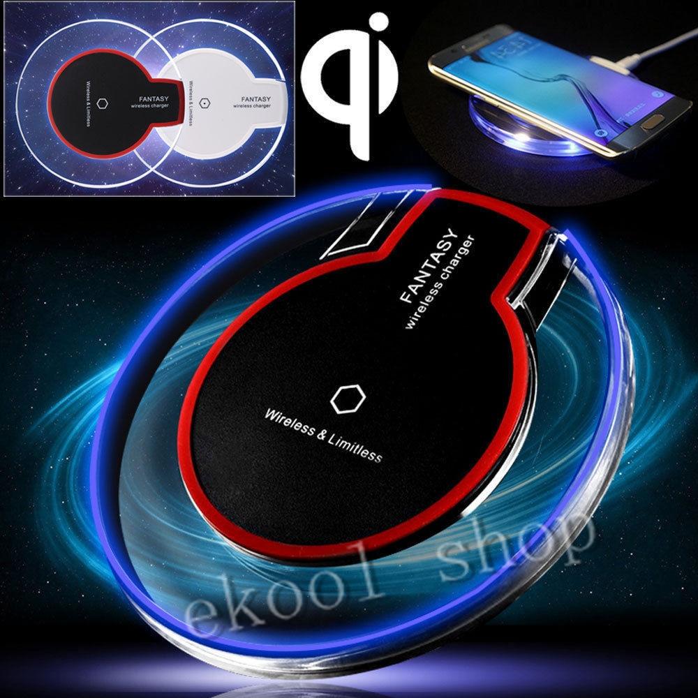 LRuiize Fantasy Crystal Bezdrátová nabíječka Pad Qi Nabíjecí Dok pro Samsung Galaxy S9 S8 S7 / S6 Edge Plus Nokia Lg G4 G3 Nexus 4/5