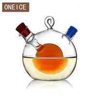 Free Shipping Multipurpose Large Kitchen Seasoning Bottle Green Glass Oiler Oil Can Leak Oil Vinegar Sauce