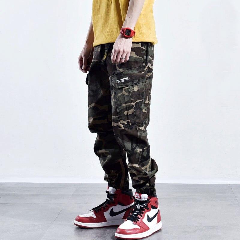 Mode Streetwear Männer Casual Hosen Lose Fit Multi Taschen Cargo Hosen Hombre Armee Grün Japanischen Stil Hip Hop Hosen Homme Herrenbekleidung & Zubehör