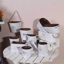 3 uds Vintage pájaro de metal florero balde colgante artesanía para la decoración del jardín del hogar de la Navidad de la boda de la flor Artificial