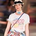2017 Spring Summer Vacation O-neck Women Short New Design Short Sleeve T Shirt Coco Fashion Ladies Loose Tops Tee-shirt CDE8451