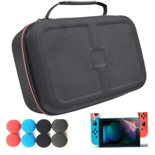 Portable Hard Shell Carrying Case Anti-shock Storage Travel Hand Bag w/Multiple Compartments for Nintend Switch NS+Caps+Film