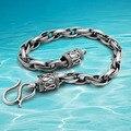 Ретро таинственный карибского моря пиратский корабль тайский серебряный браслет стерлингового серебра 925 браслеты мужчины