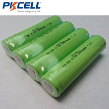 4Pcs PKCELL 4/3A 1.2V NiMH Rechargeable Battery  17670 18670 3800mAh Medical Device Processing Battery Pack