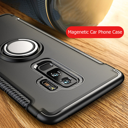 Magnetic Phone Case For Samsung S10 Lite S9 S8 Plus S7 Edge Note 9 8 For J2 J3 J5 A6 J8 Pro 2017 2018 j7 Prime Finger Ring Cases