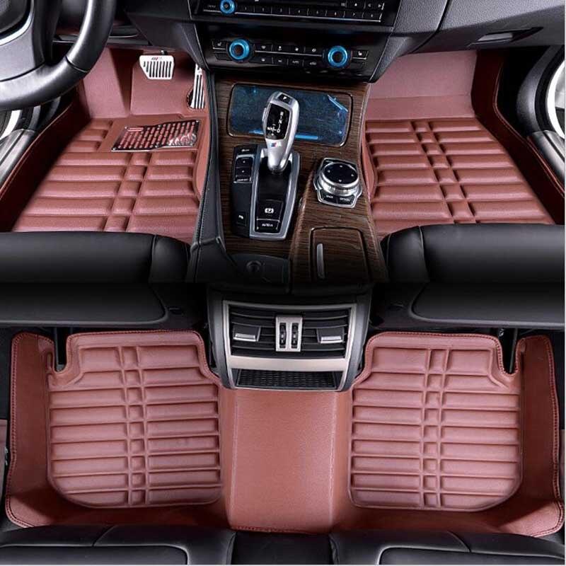 Pour Passat B6 2006-2010 tapis de sol Auto tapis avant arrière revêtement avant et arrière tapis de tapis 3D tapis de voiture étanche