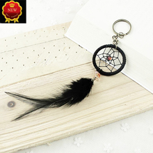 Car Keychain Classic Handmade Dream catcher Feathers Pendant Key Rings Mens waist hanging Holder Auto Accessories