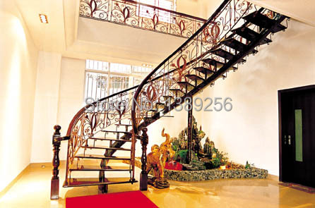 Professional Cast Iron Plant Fence Wrought Stair Railing Rails Can Be Customized