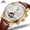 Fashion Luxury Brand Carnival Men Watch Automatic Mechanical Watches Hollow Men Tourbillon Mechanical Watch With Original Box