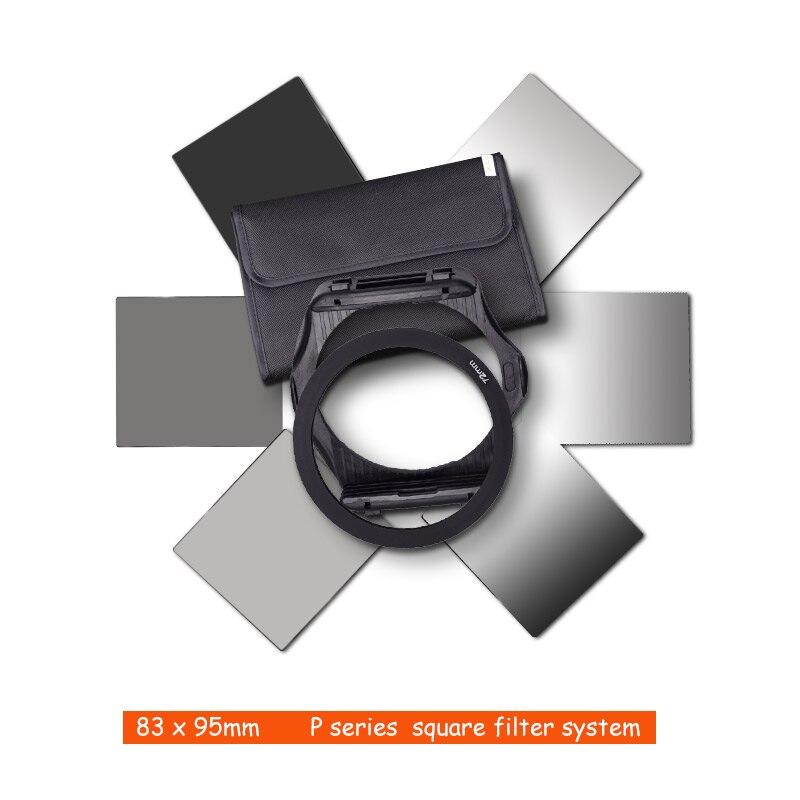 Respectivamente gradiente de densidad Neutral completo y Gradual y Plaza Kit de filtro + adaptador anillos para Cokin P Series DSLR SLR lente de la cámara