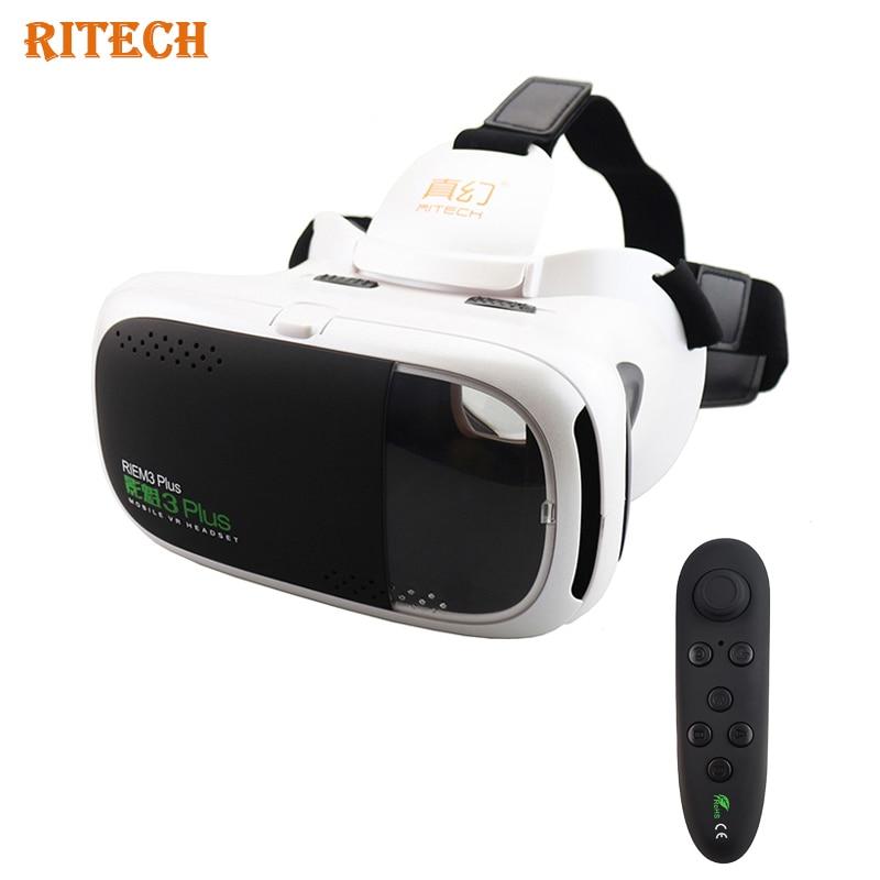 2017 <font><b>RITECH</b></font> 3 <font><b>Plus</b></font> Riem 3 <font><b>VR</b></font> BOX 3d <font><b>virtual</b></font> <font><b>reality</b></font> <font><b>glasses</b></font> headset HD Immersive vrbox for 4.7-6' Phone+ Remote Controller