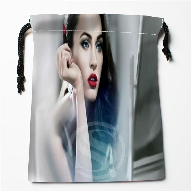W-108 New Megan Fox Custom Logo Printed  Receive Bag  Bag Compression Type Drawstring Bags Size 18X22cm E801wz108