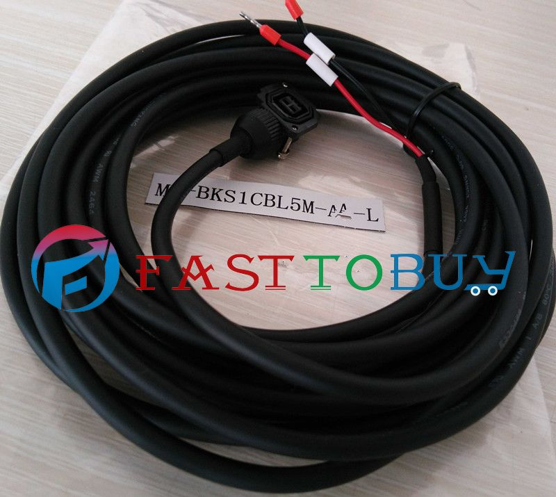 NEW MR-BKS1CBL5M-A1-L Compatible Mitsubishi Servo Brake Cable 5M Year Warranty цены