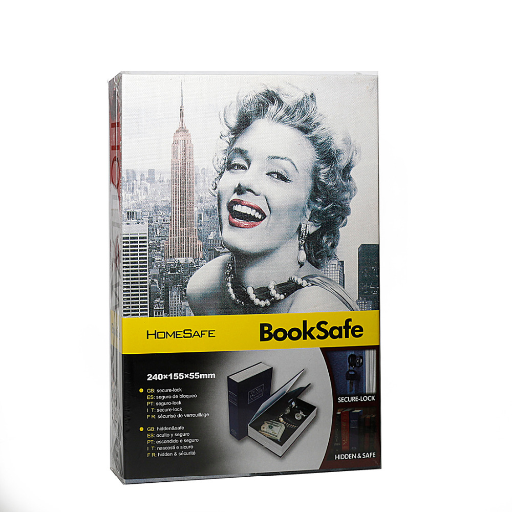 Secret Book Hidden Safe with Key Lock Book Safe Money Hidden Secret Security Safe Lock Cash Money Jewellery Locker Box