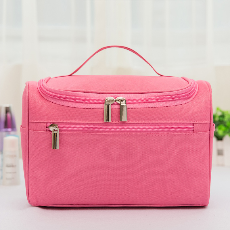 Large Capacity Outing Travel Mobile Toilet Bag Waterproof Polyester Cosmetic Storage Bag