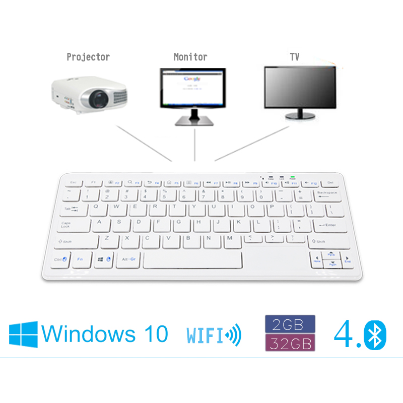 NEW high quality micro host pc mini PC with keyboard HDMI VGA RJ45 TF windowns10 for office home