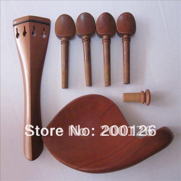 Размеры 1/2 коричневый Цвет дерево Скрипки части подбородка, конец Булавки, концовка, 4 tegs