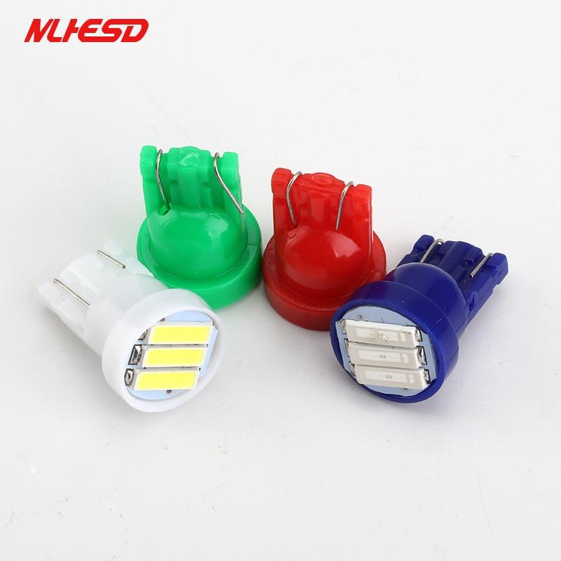 10X T10 3SMD 7014 LED 3 светодиодный 7020 1,5 W белый синий красный зеленый желтый W5W светодиодный фонарь для номерного знака с клиновидным цоколем 12 В