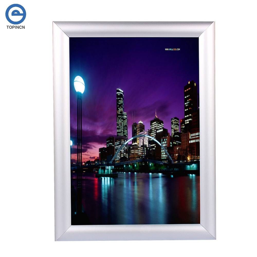 1Pc A4 Silver Poster Stand Snap Frames Aluminium Clip Wall ...
