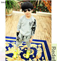 Spring autumn skull child kids boys clothing sets with children boys long sleeved t shirt+pants clothing sets SAILEROAD