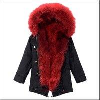 JKP Hot Autumn and Winter Men's and Women's Natural Scorpion Hair Detachable Baby Baby Scorpion fur collar fur coat SW 42