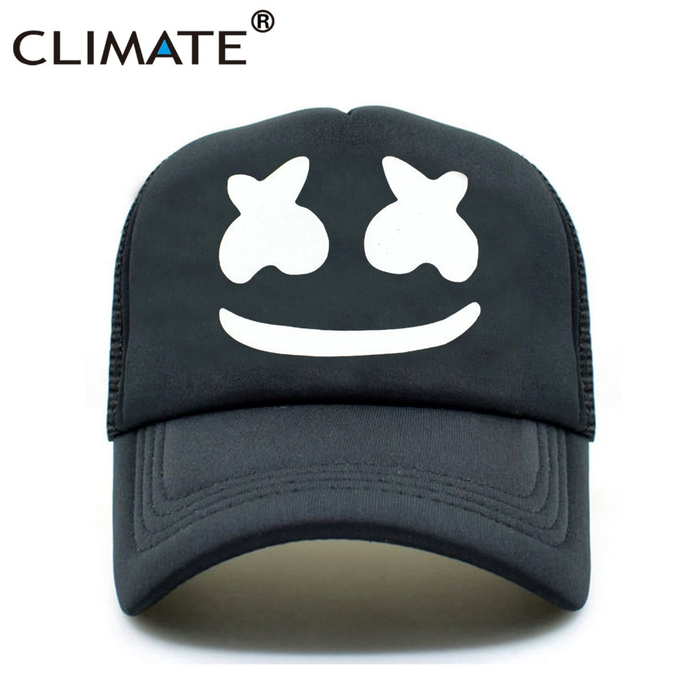 CLIMATE Men Women Dj Remix Trucker Mesh Caps Marshmello Dotcom Fans Cap Remix DJ Marshmello Joytime Remix Music Fans Caps Hat climate men women summer cool mesh cap remix music dj hardwell on air fans cool baseball mesh summer net trucker caps hat fans