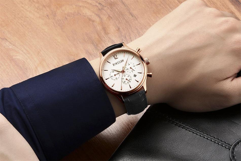 Relojes de lujo para hombre Top Brand BINSSAW 2016 Nuevos hombres de - Relojes para hombres - foto 5