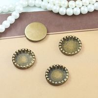 Cabochon 14mm 500pcs Antique Bronze Blank Pendant Trays Bases Cameo Cabochon Setting for Glass/Stickers