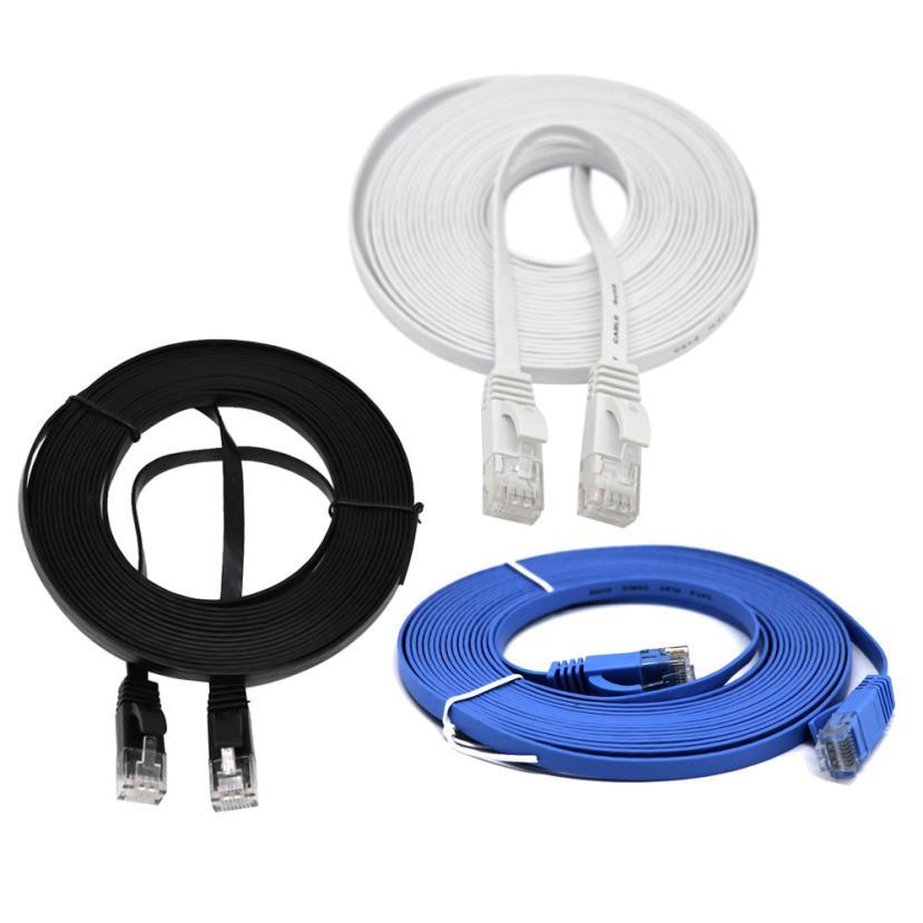 #3131 RJ45 CAT6 Ethernet réseau LAN câble plat UTP Patch routeur intéressant Lot meilleur prix! 1 m/2 m/3 m/5 m/10 m/15 m/20 M
