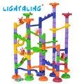 Diy construção de mármore executar faixas intelecto labirinto jogo bolas 105 pcs puzzle educacional das crianças das crianças presente brinquedos lightaling