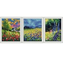 533a065db1fc52 NKF красивые цветы штампованные схемы для вышивки крестом DIY наборы  14CT11CT китайский рукоделие вышивка наборы для