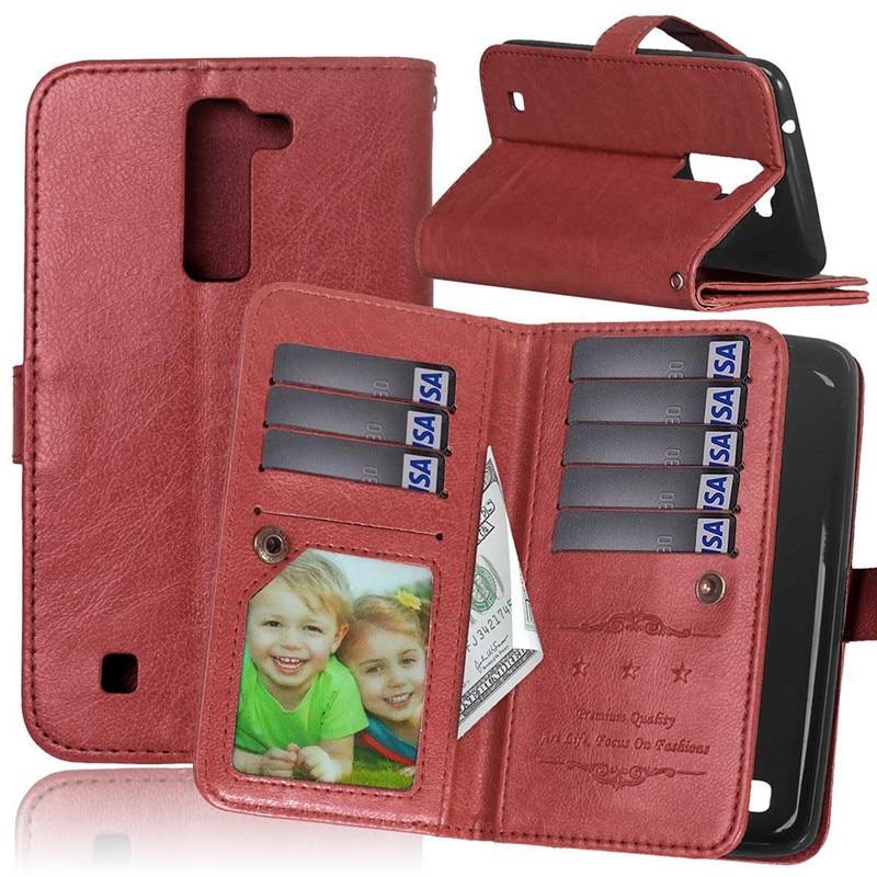 Coque Fundas 9 Husă pentru suporturi de carduri pentru LG K7 K8 - Accesorii și piese pentru telefoane mobile