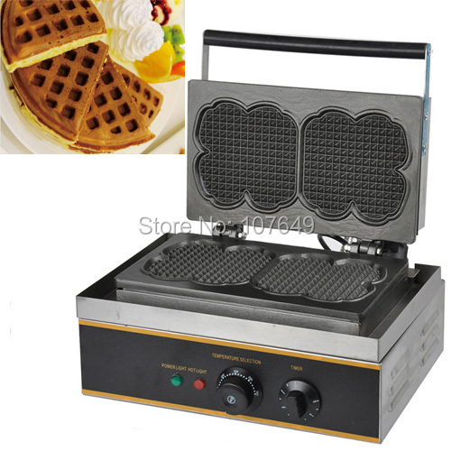 Free Shipping to USA/Canada/Japan/Mexico 110v Electric Commercial Use Non-stick Dual Waffle Machine Maker Iron Baker free shipping commercial use non stick 110v 220v electric 8pcs square belgian belgium waffle maker iron machine baker