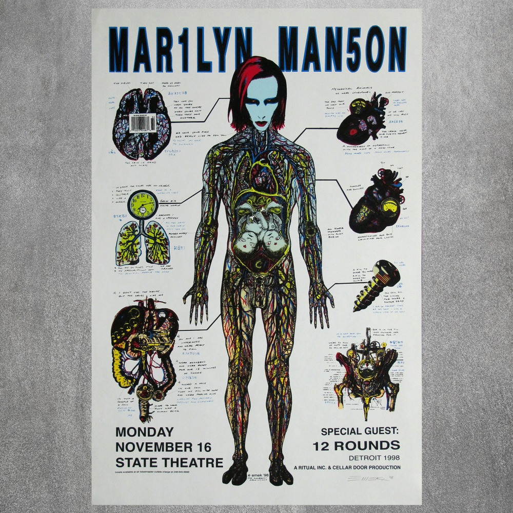 Art Print POSTER Canvas Marilyn Manson