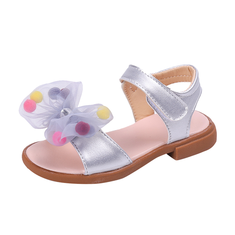 Newest Summer Kids Shoes 2019 Fashion Leathers Sweet Children Sandals For Girls Toddler Baby Breathable Hoolow Out Bow Shoes(China)