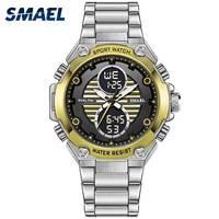 Watch Men Mechanical Automatic SMAEL Waterproof Electronic Watch Alarm Clock Men Digital 1372 Sport Men Watches Stainless Steel