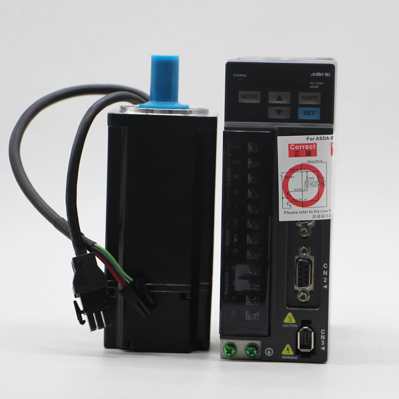 DELTA 400 w 3000 rpm ECMA-C20604RS + ASD-B2-0421-B ASDA-B2 1.27nm 60mm AC servo driver de motor kits