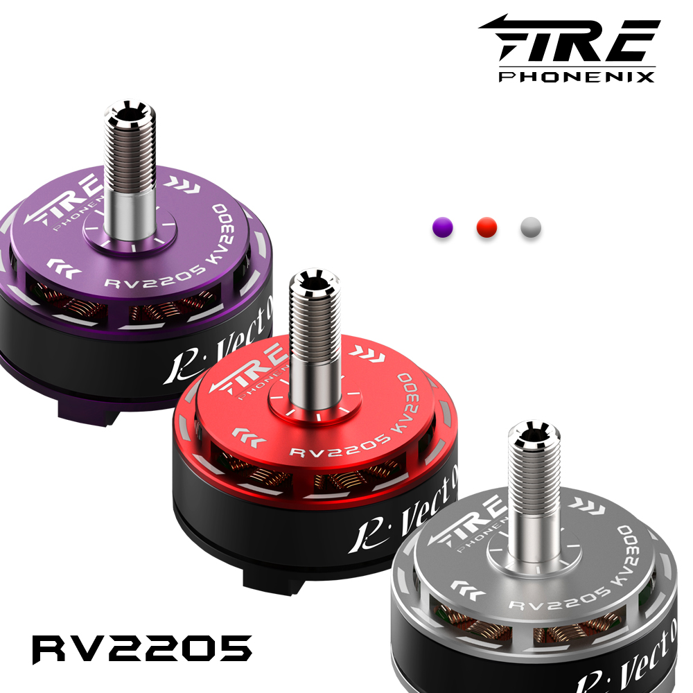 1 PCS FIRE PHONENIX RV2205 Brushless Motor 2300KV/2500KV  Purple/Red CW CCW For FPV RC Drone Quadcopter original emax rs1104 5250kv brushless motor t2345 tri blades propellers cw ccw props for 130 rc brushless racer drone q20400