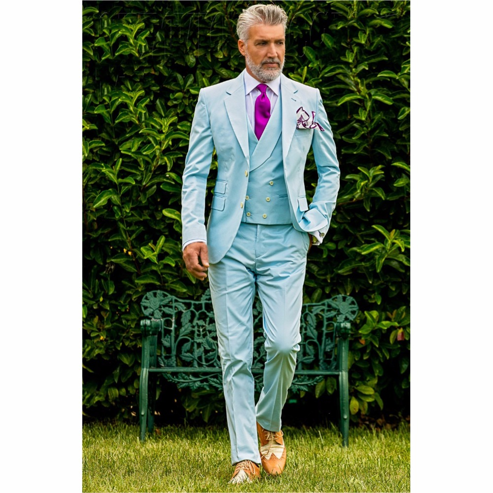 Buy men suit baby blue and get free shipping on AliExpress.com