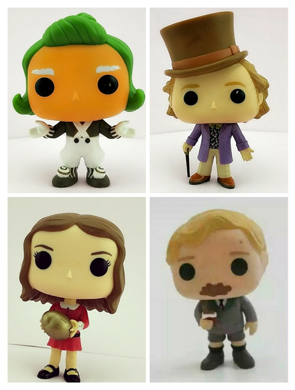 Funko POP Secondhand Willy Wonka & the Chocolate Factory Vinyl Action Figure Collectible Model Loose Toy Cheap No Box imperfect funko pop second hand horror movies evil dead 2 ash with saw vinyl action figure collectible model toy cheap no box