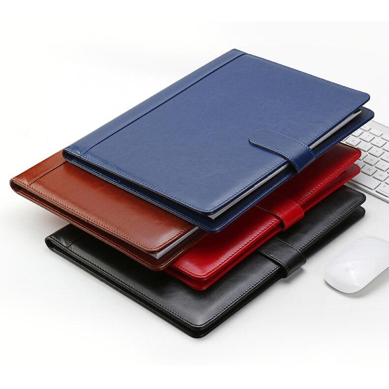 Dossier de fichier portable en cuir PU de haute qualité a4 portefeuille porte-documents organisateur de documents avec clip 1300