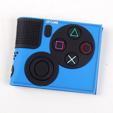 Game Handle Playstation wallet 3D Touch and super cool Men Wallets PVC Purse Bi-Fold(China)