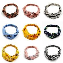 все цены на Fashion Women Knot Flower Headband Cross Turban Elastic Hairbands Headwrap Girls Hair Accessories Hair bands for Women Bandanas онлайн