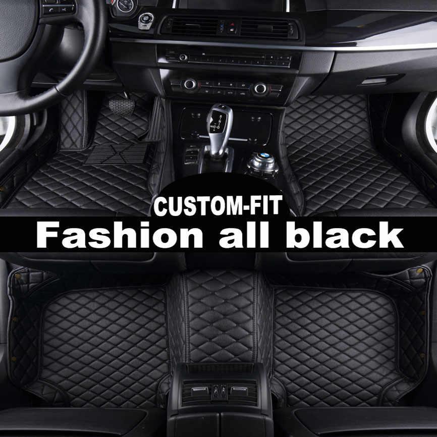 Araba paspaslar fit Hyundai ix35 Elantra Santa Fe Sonata Tucson 2016 Solaris Accent Jupuar XF XJ6 XJ6L XJL 5D araba-styling halı